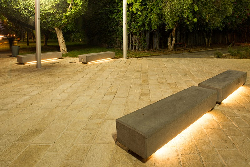 Naama Agassi Public Furniture Barak Led Light Bench