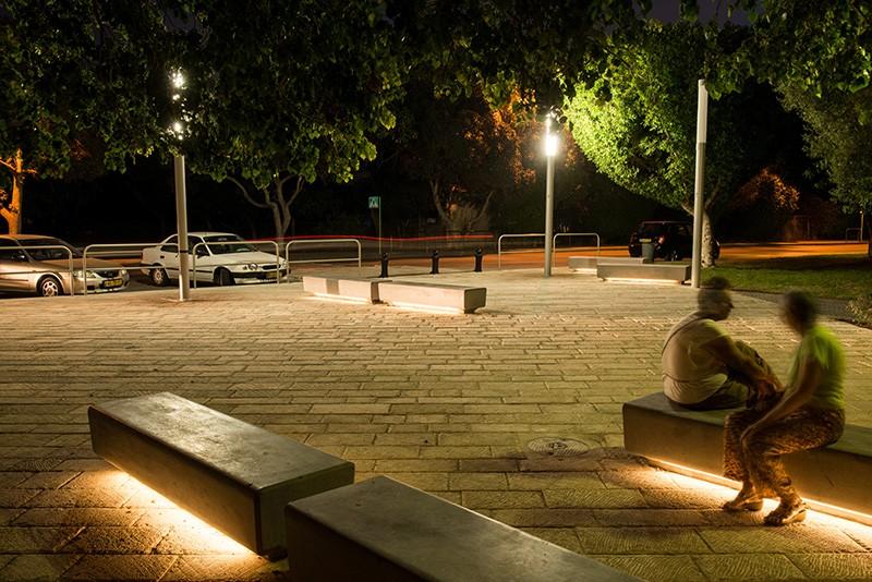 Naama Agassi Public Furniture Barak Led Light Bench